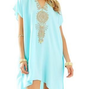 Lilly Pulitzer Embroidered Chai Caftan